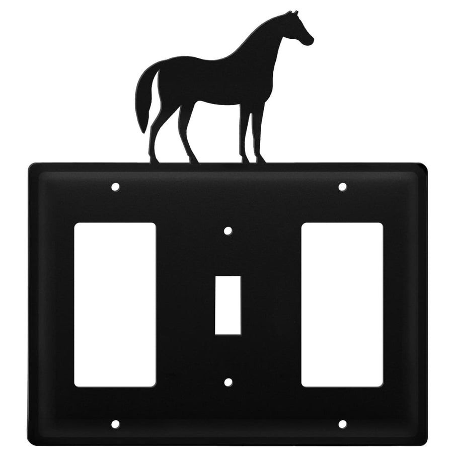 Wrought Iron Horse GFCI Switch GFCI Cover light switch covers lightswitch covers outlet cover switch