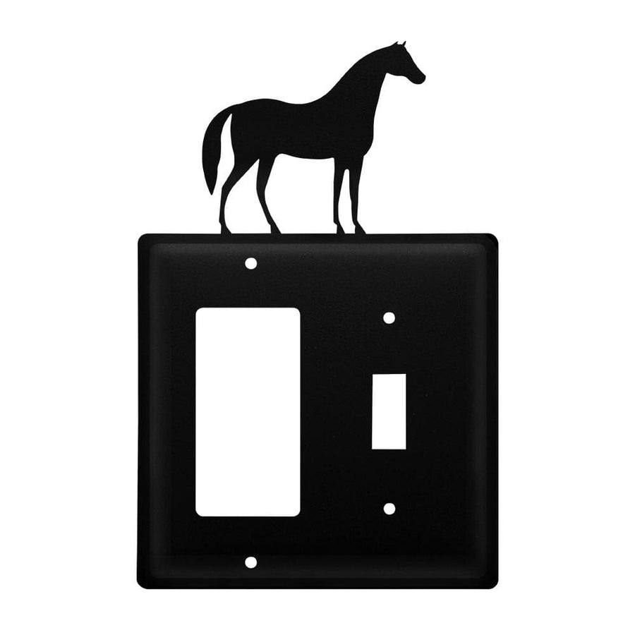 Wrought Iron Horse GFCI Switch Cover light switch covers lightswitch covers outlet cover switch