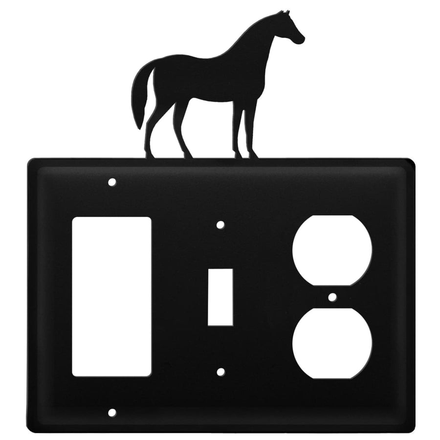Wrought Iron Horse GFCI Switch Outlet Cover light switch covers lightswitch covers outlet cover