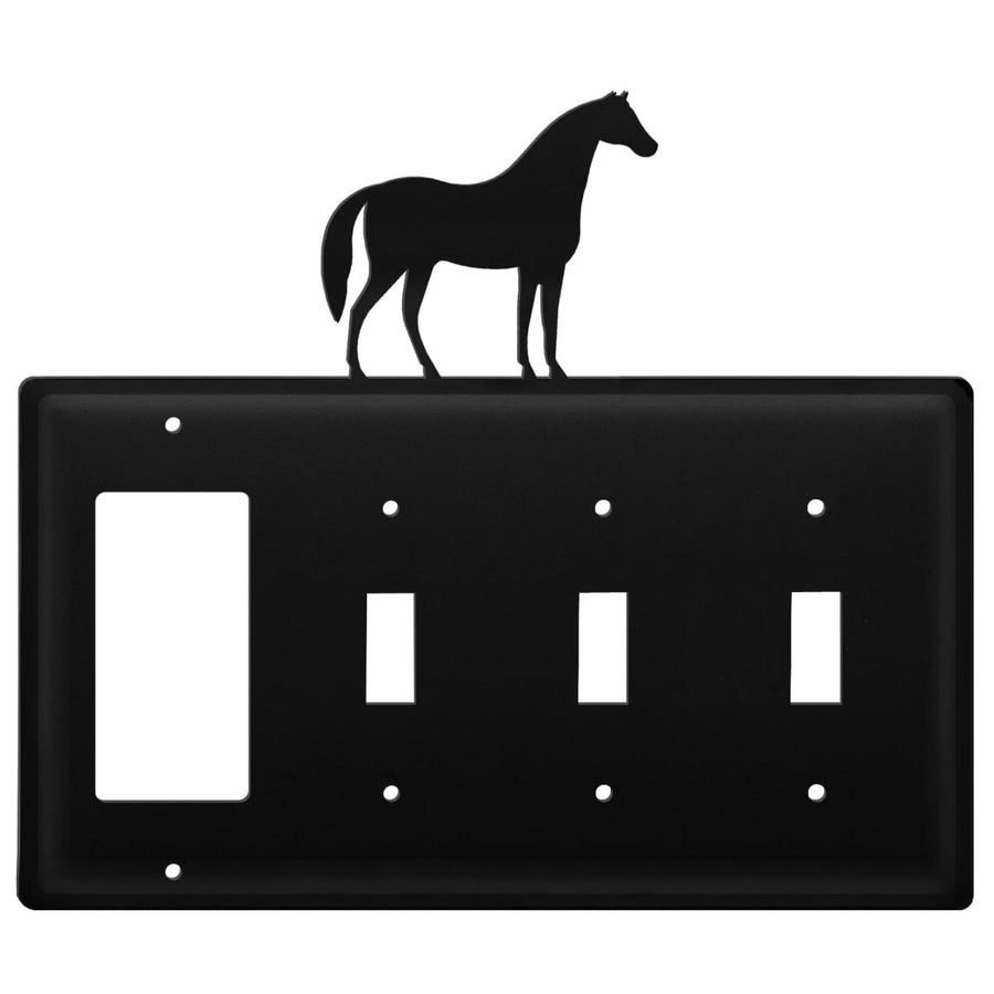 Wrought Iron Horse GFCI Triple Switch Cover light switch covers lightswitch covers outlet cover