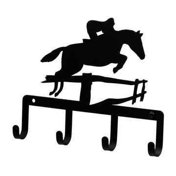 Wrought Iron Horse & Jockey Key Holder Key Hooks key hanger key hooks Key Organizers key rack
