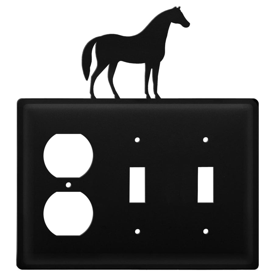 Wrought Iron Horse Outlet Double Switch Cover light switch covers lightswitch covers outlet cover