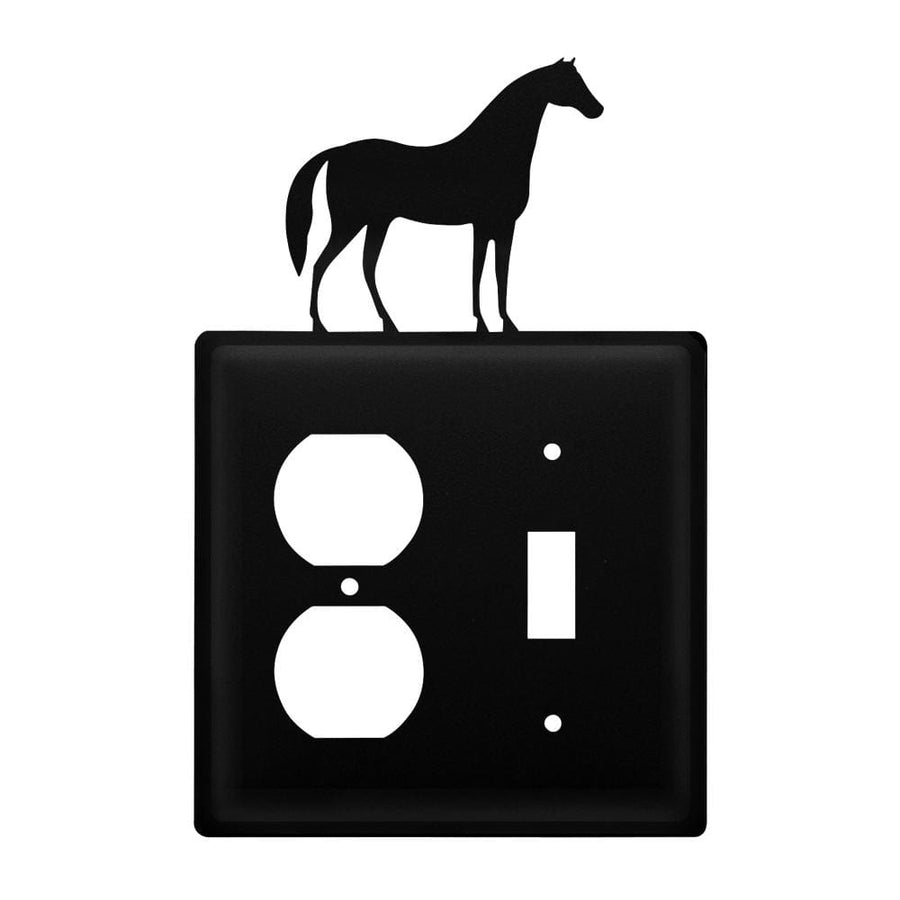 Wrought Iron Horse Outlet & Switch Cover light switch covers lightswitch covers outlet cover switch