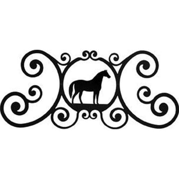 Wrought Iron Horse Over Door Plaque door plaque house signs metal name plaques metal plaques name