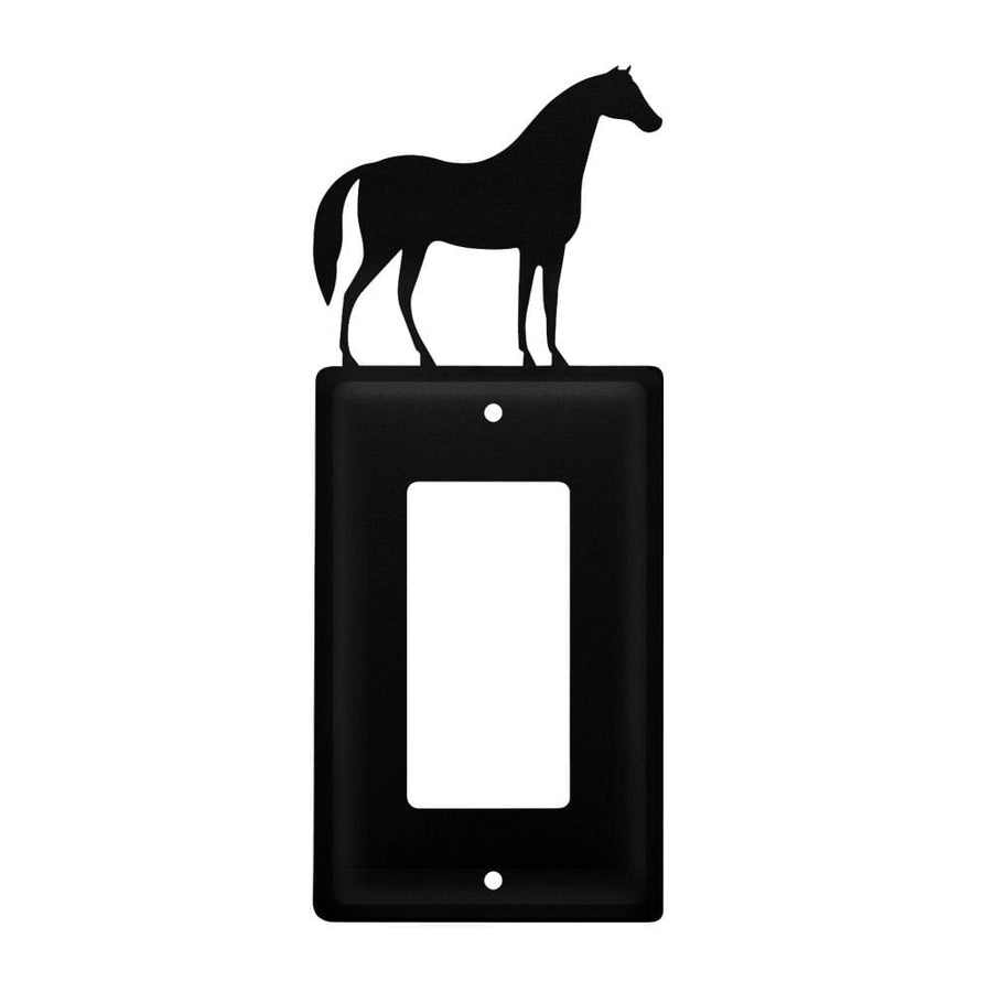 Wrought Iron Horse Single GFCI Cover light switch covers lightswitch covers outlet cover switch