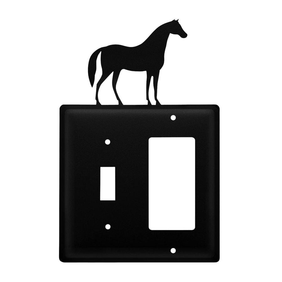 Wrought Iron Horse Switch GFCI Cover light switch covers lightswitch covers outlet cover switch
