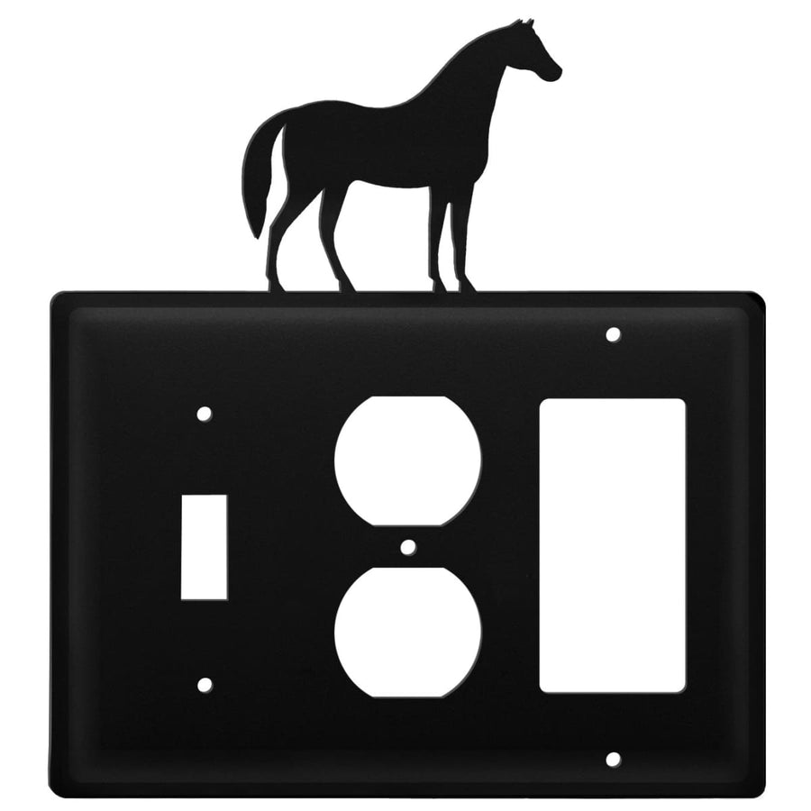 Wrought Iron Horse Switch Outlet GFCI Cover light switch covers lightswitch covers outlet cover