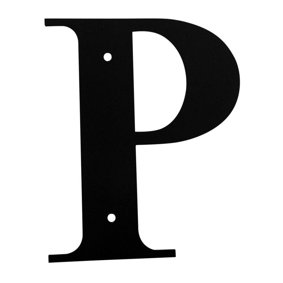 Wrought Iron House Letter P - 3 Sizes Available address letter house letter house signs letter p
