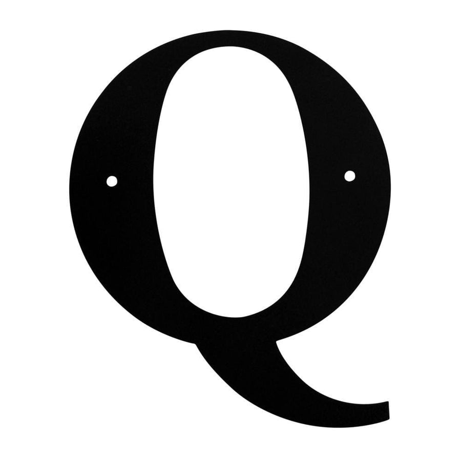 Wrought Iron House Letter Q - 3 Sizes Available address letter house letter house signs letter q
