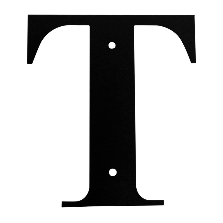 Wrought Iron House Letter T - 3 Sizes Available address letter house letter house signs letter t