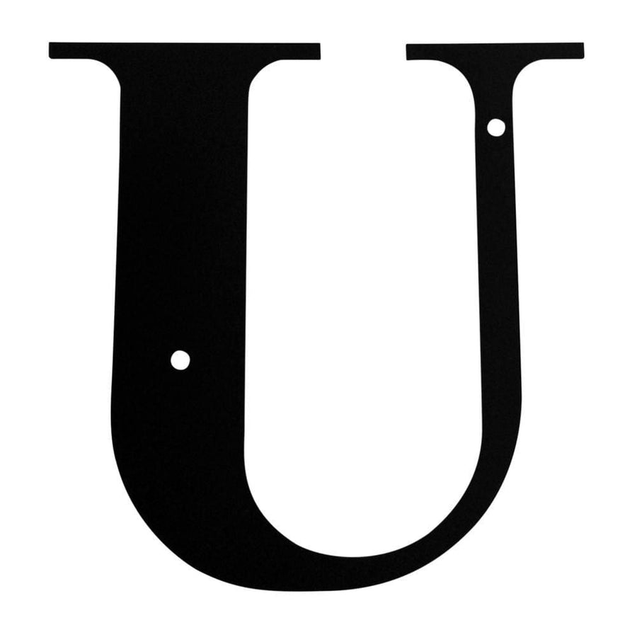 Wrought Iron House Letter U - 3 Sizes Available address letter house letter house signs letter u