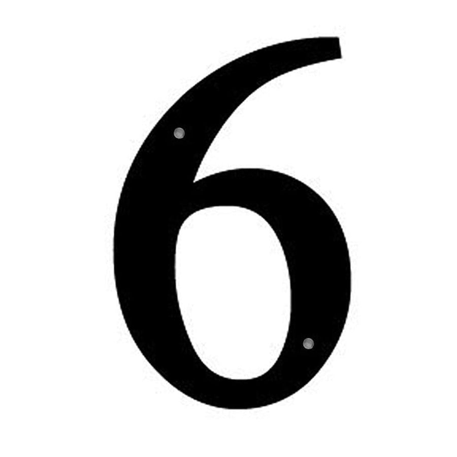 Wrought Iron House Number 6 Sm 6 Inches door numbers house number house numbers number 6 number six