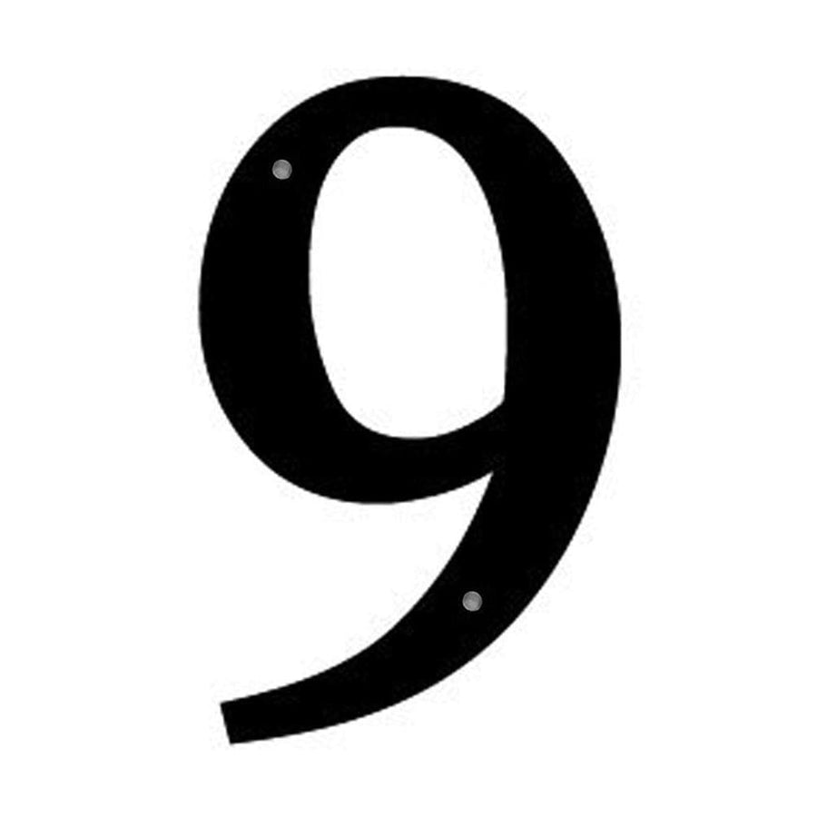 Wrought Iron House Number 9 Sm 6 Inches door numbers house number house numbers number 9 number nine