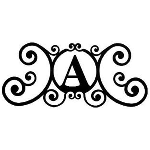 Wrought Iron House Plaque Let A 24 Inches door plaque house letter house signs letter a metal