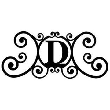 Wrought Iron House Plaque Let D 24 Inches door plaque house letter house signs letter d metal