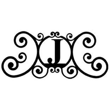 Wrought Iron House Plaque Let J 24 Inches door plaque house letter house signs letter j metal