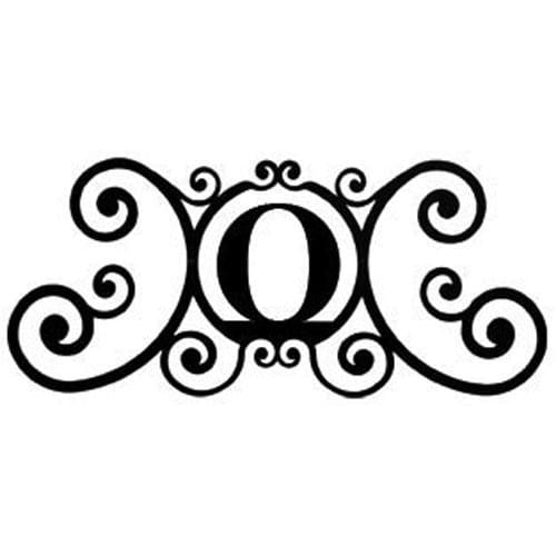Wrought Iron House Plaque Let O 24 Inches door plaque house letter house signs letter o metal