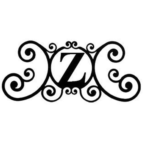 Wrought Iron House Plaque Let Z 24 Inches door plaque house letter house signs letter z metal