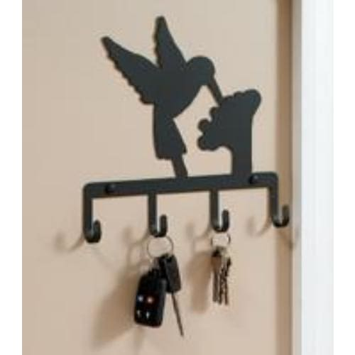 Wrought Iron Hummingbird Key Holder Key Hooks key hanger key hooks Key Organizers key rack