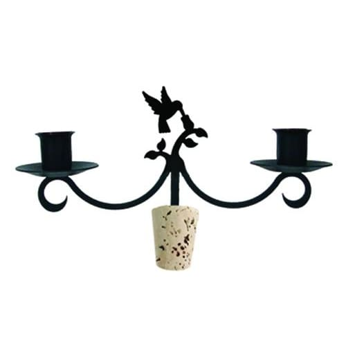 Wrought Iron Hummingbird Taper Candle Bottle Top Candelabra candelabra candelabrum candle holder