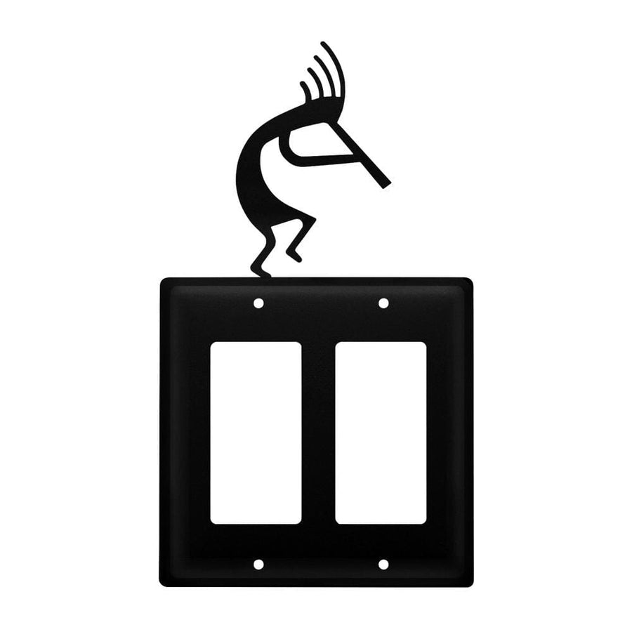 Wrought Iron Kokopelli Double GFCI Cover light switch covers lightswitch covers outlet cover switch