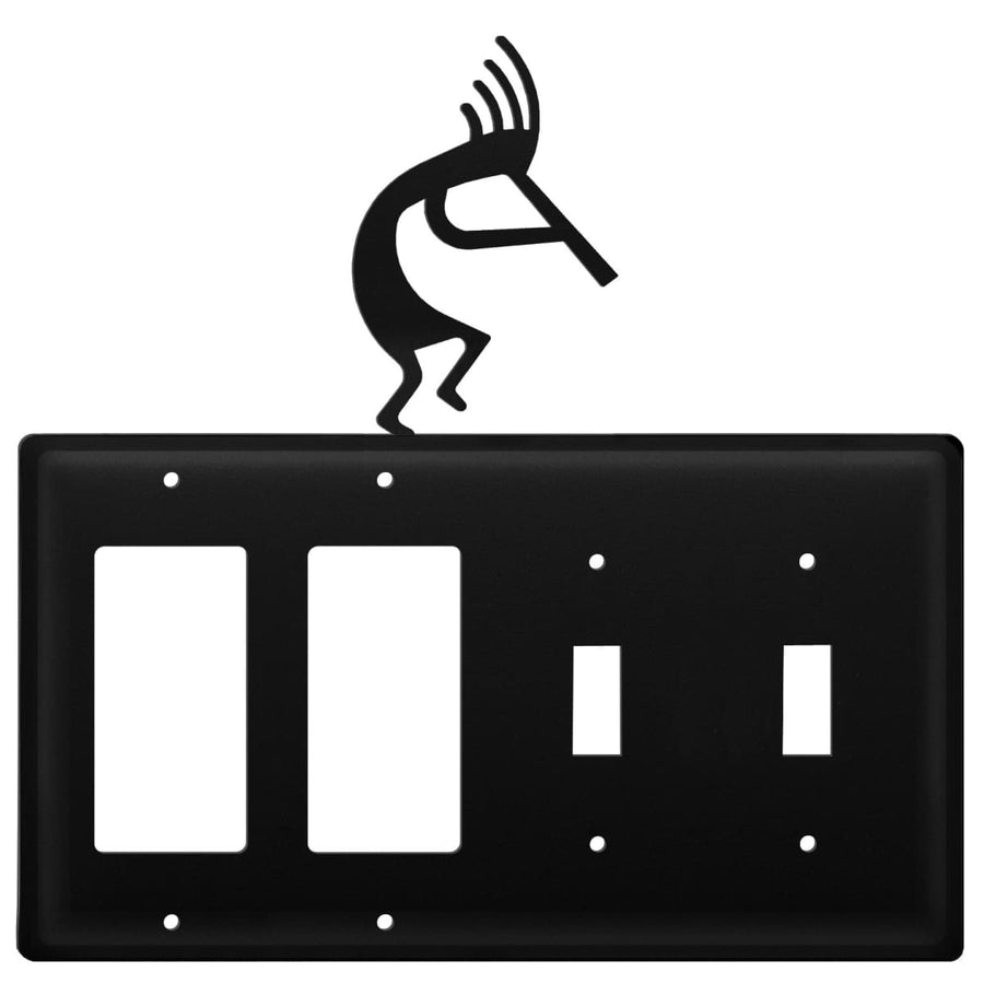 Wrought Iron Kokopelli Double GFCI Double Switch Cover light switch covers lightswitch covers outlet