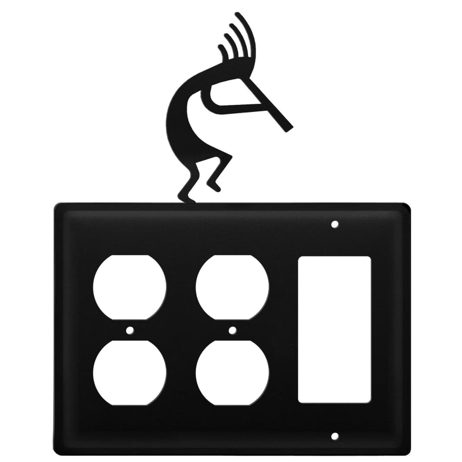 Wrought Iron Kokopelli Double Outlet GFCI Cover light switch covers lightswitch covers outlet cover