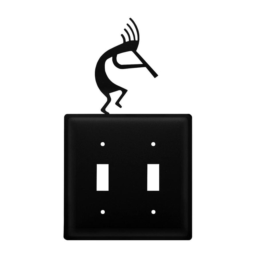 Wrought Iron Kokopelli Double Switch Cover light switch covers lightswitch covers outlet cover