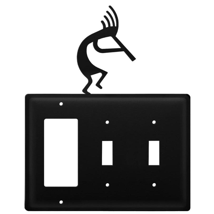 Wrought Iron Kokopelli GFCI Double Switch Cover light switch covers lightswitch covers outlet cover