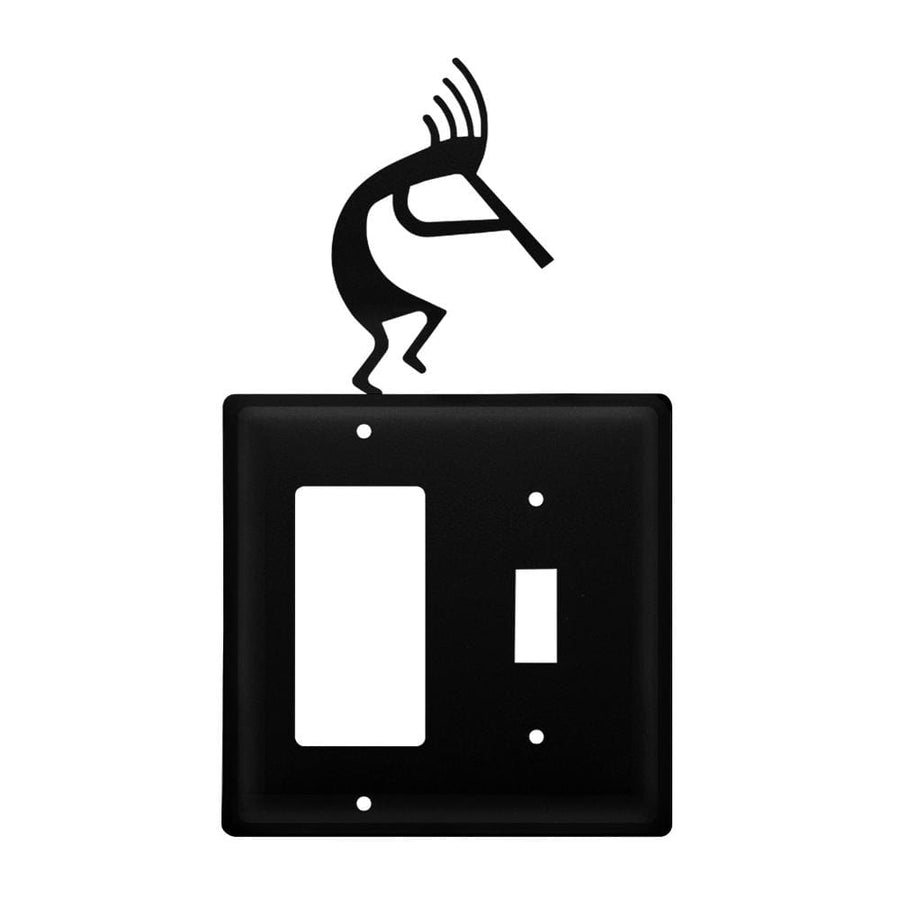 Wrought Iron Kokopelli GFCI Switch Cover light switch covers lightswitch covers outlet cover switch