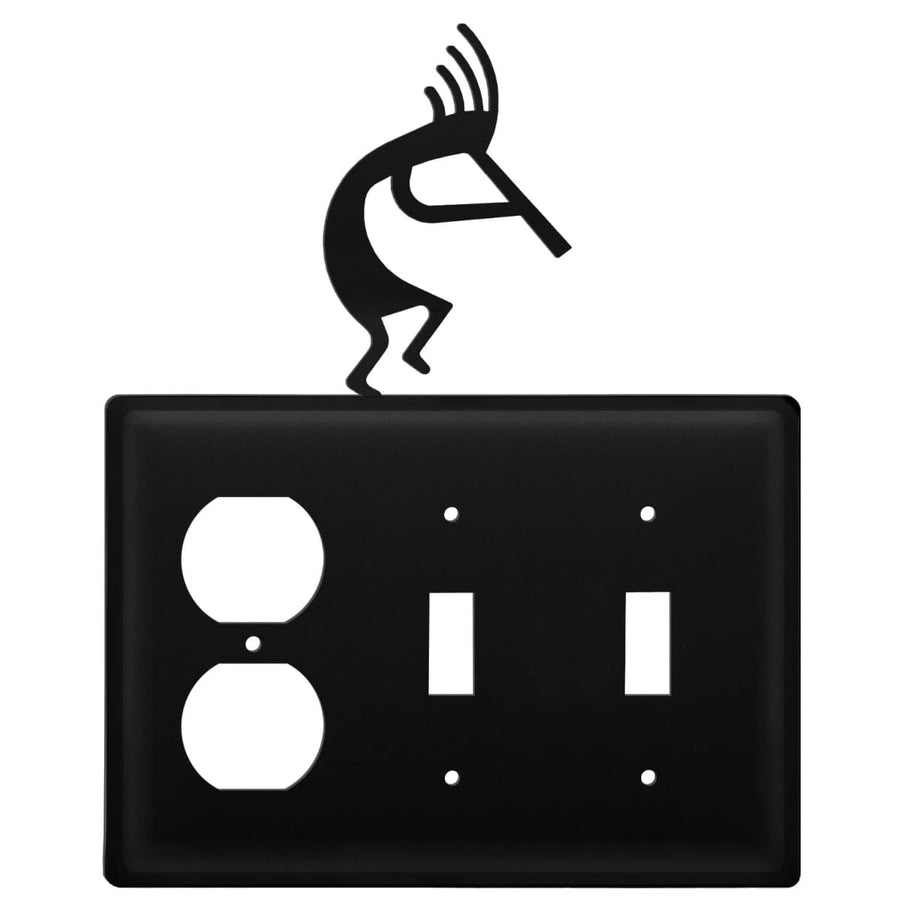 Wrought Iron Kokopelli Outlet Double Switch Cover light switch covers lightswitch covers outlet