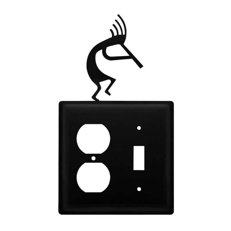 Wrought Iron Kokopelli Outlet & Switch Cover light switch covers lightswitch covers outlet cover