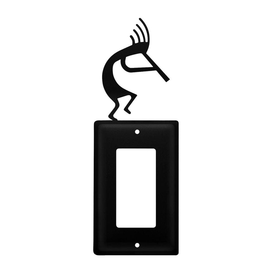 Wrought Iron Kokopelli Single GFCI Cover light switch covers lightswitch covers outlet cover switch