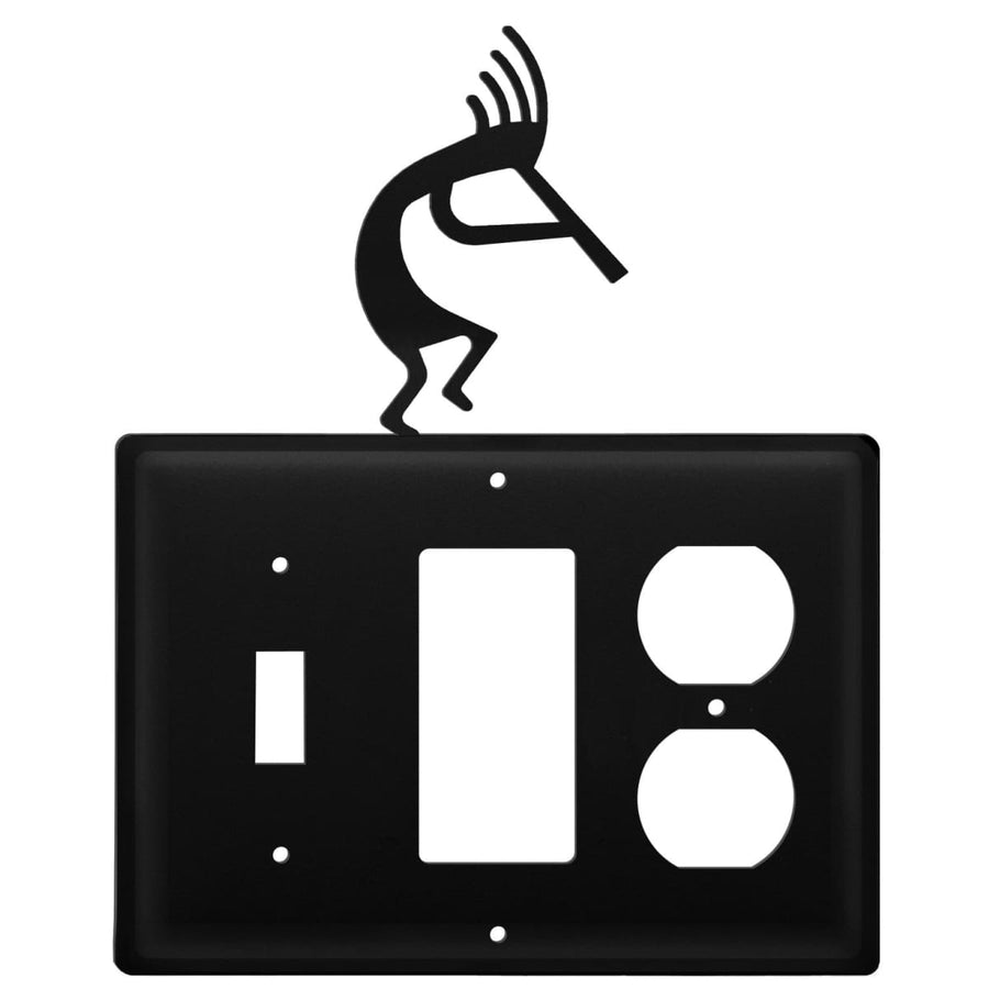 Wrought Iron Kokopelli Switch GFCI Outlet Cover light switch covers lightswitch covers outlet cover