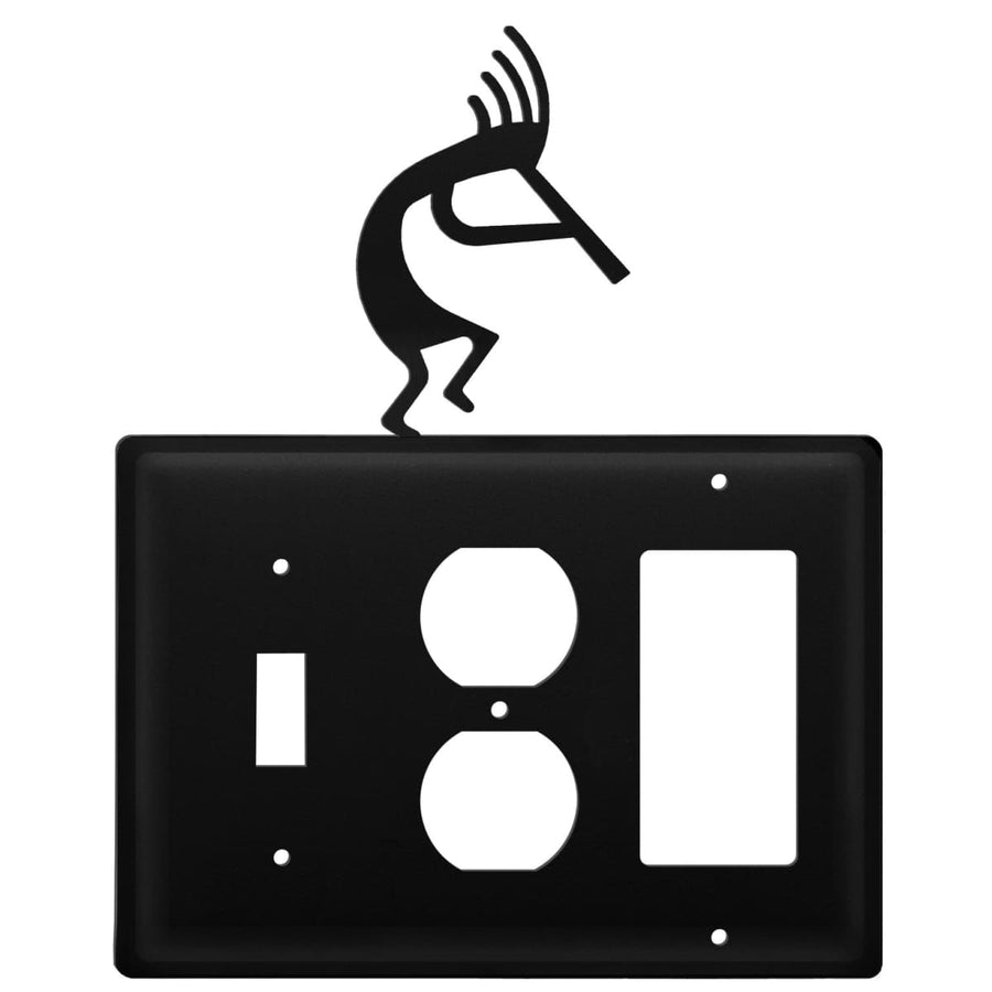Wrought Iron Kokopelli Switch Outlet GFCI Cover light switch covers lightswitch covers outlet cover
