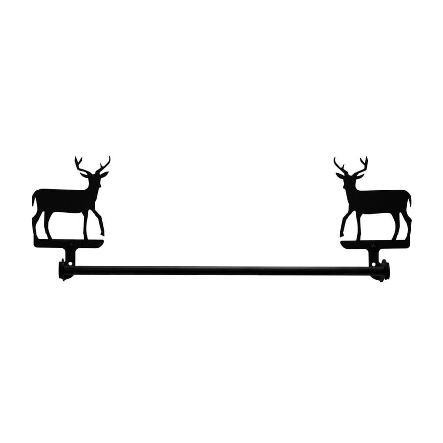 Wrought Iron Large Deer Towel Rail Towel Rack bathroom towel rails black wrought iron outdoor towel