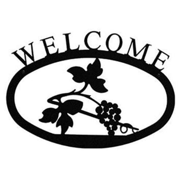 Wrought Iron Large Grapevine Welcome Home Sign Large door signs outdoor signs welcome home sign