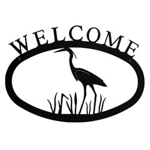 Wrought Iron Large Heron Welcome Home Sign Large door signs outdoor signs welcome home sign welcome
