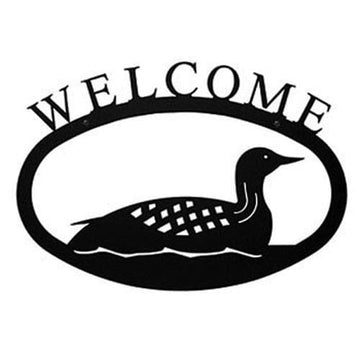 Wrought Iron Large Loon Welcome Home Sign Large door signs outdoor signs welcome home sign welcome