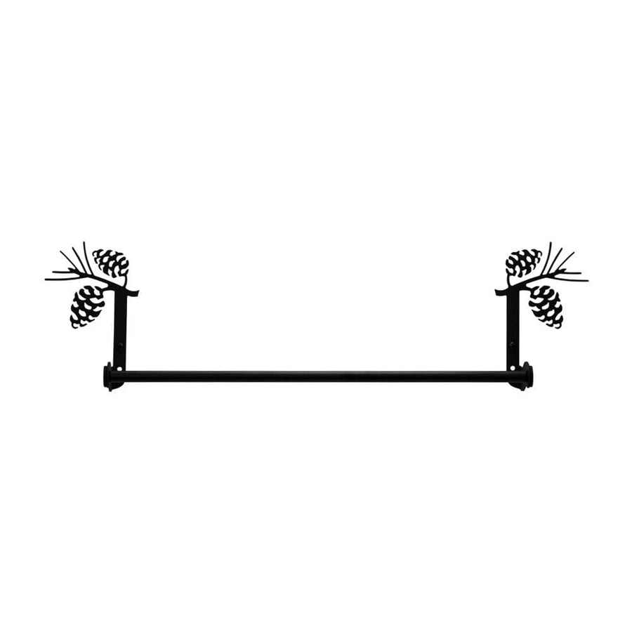 Wrought Iron Large Pine Cone Towel Rail Towel Rack bathroom towel rails black wrought iron outdoor