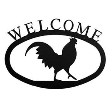 Wrought Iron Large Rooster Welcome Home Sign Large door signs outdoor signs welcome home sign