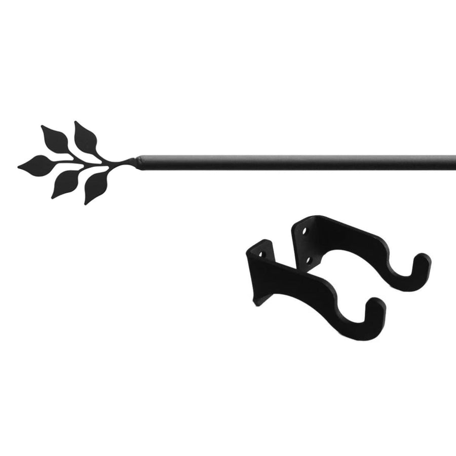 Wrought Iron Leaf Curtain Rod curtain poles curtain rails curtain rod leaf decor outdoor curtain