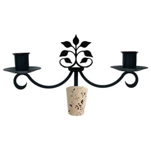 Wrought Iron Leaf Fan Wine Bottle Stopper Candelabra candelabra candelabrum candle holder romantic