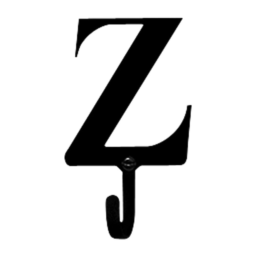 Wrought Iron Letter Z Wall Hook Small coat hooks door hooks hook letter hook wall hook