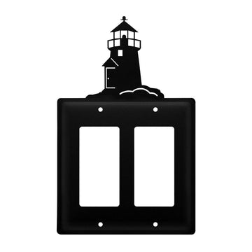 Wrought Iron Lighthouse Double GFCI Cover light switch covers lightswitch covers outlet cover switch