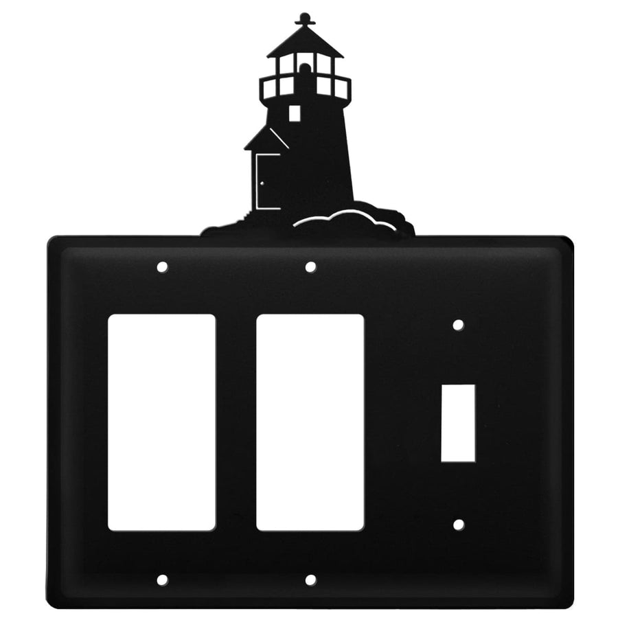 Wrought Iron Lighthouse Double GFCI Switch Cover light switch covers lightswitch covers outlet cover