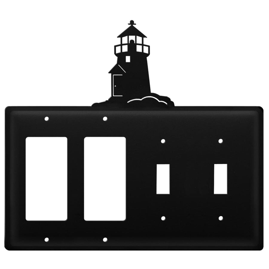 Wrought Iron Lighthouse Double GFCI Double Switch Cover light switch covers lightswitch covers