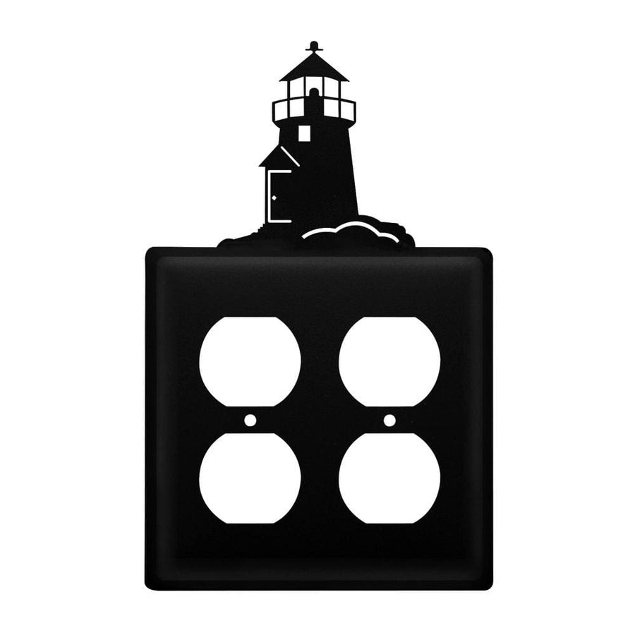 Wrought Iron Lighthouse Double Outlet Cover light switch covers lightswitch covers outlet cover
