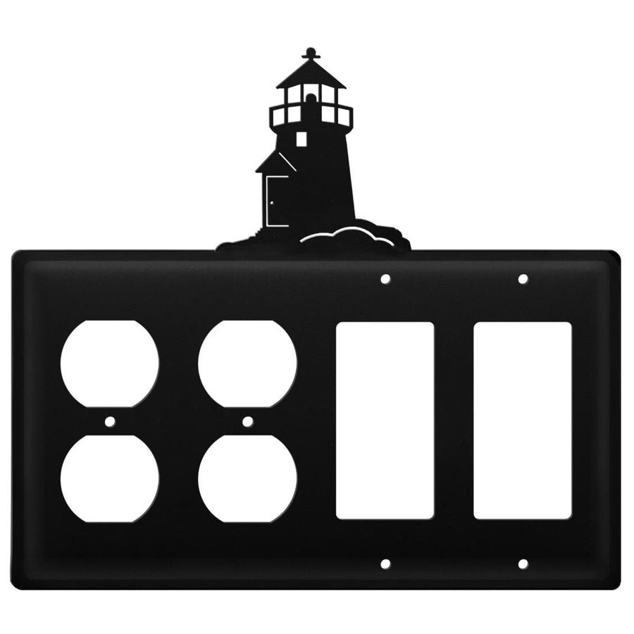 Wrought Iron Lighthouse Double Outlet Double GFCI Cover light switch covers lightswitch covers