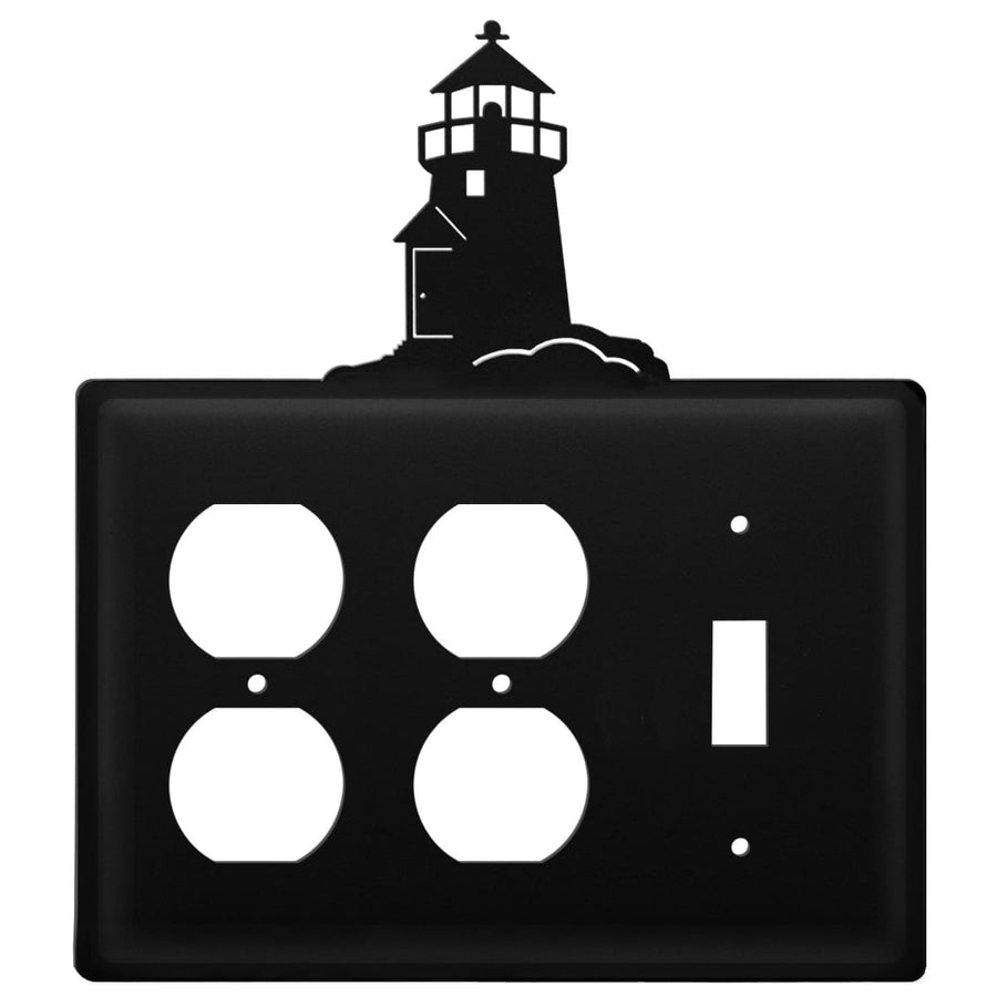 Wrought Iron Lighthouse Double Outlet Switch Cover light switch covers lightswitch covers outlet
